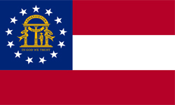 The state flag of Georgia | Georgia Medicare Insurance Plans