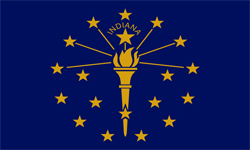 The state flag of Indiana | Indiana Medicare Insurance Plans