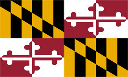 The state flag of Maryland | Maryland Medicare Insurance Plans