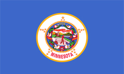 The state flag of Minnesota.