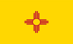The state flag of New Mexico | New Mexico Medicare insurance plans