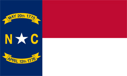 The state flag of North Carolina | North Carolina Medicare Insurance Plans